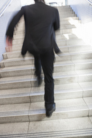 Businessman to run up the stairs Stock photo [2662740] Business