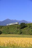 Plateau train running Yatsugatake to back Stock photo [2745834] Yatsugatake