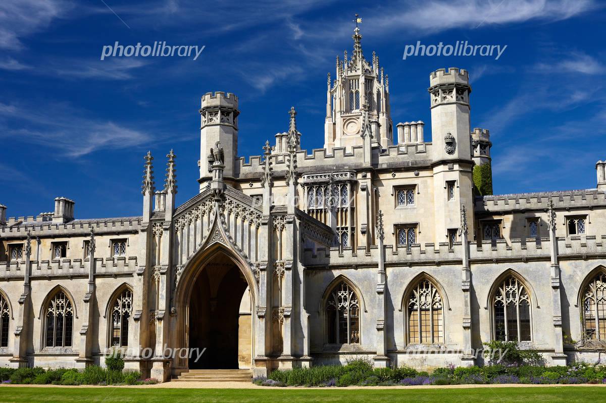 イギリス ケンブリッジ大学 セント・ジョンズ・カレッジ 写真素材 ...