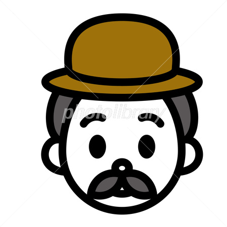 帽子と髭のおじさん 顔 イラスト素材 2832079 フォトライブラリー