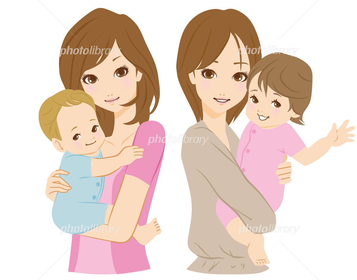 Mother and child illustrations イラスト素材