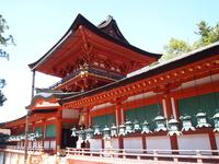 World Heritage Nara Kasuga inner gate and Goro stock photo