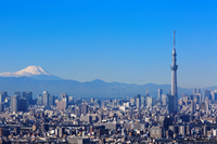 Tokyo Sky Tree and Mount Fuji Stock photo [2835372] Mt.