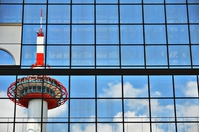 Kyoto Tower reflected in Kyoto Station Stock photo [2913232] Kyoto