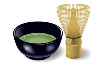 Tea ceremony set of Japan. Illustration. [2997396] Matcha