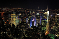 Night skyscrapers of New York Stock photo [2999076] New