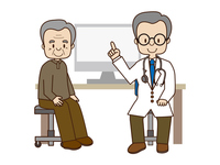 Elderly doctor examination description hospital screening For