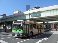 Nihonbashi and Toei bus Stock photo [3003344] Japan