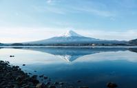 Upside-down Fuji stock photo