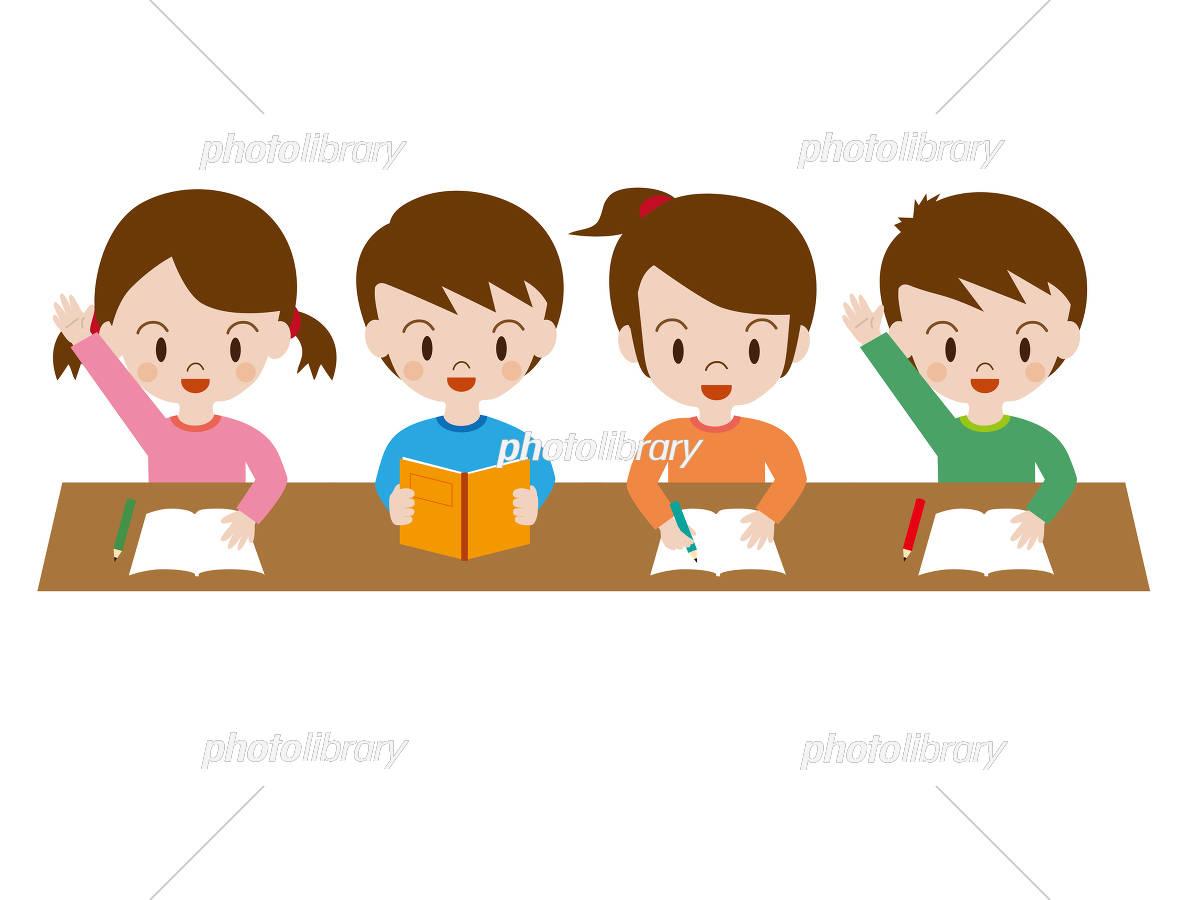 学校 授業 学習 小学生 イラスト素材 3076485 フォトライブラリー
