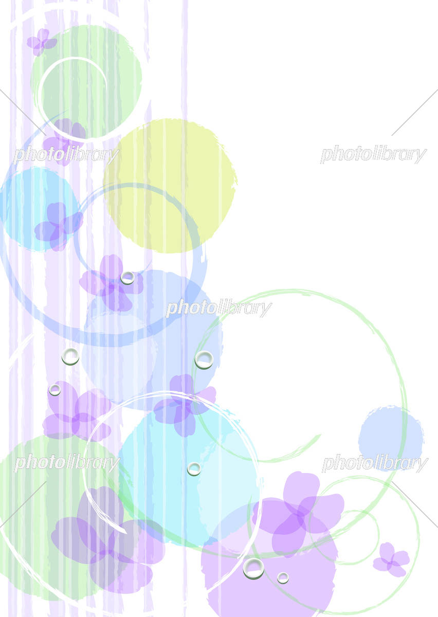 6月の紫陽花背景 イラスト素材 フォトライブラリー Photolibrary