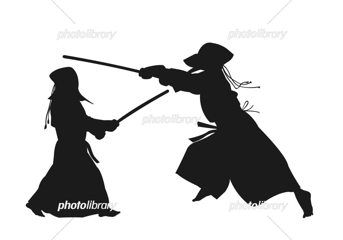 Kendo silhouette イラスト素材