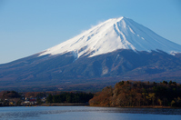 Mt. Fuji from Kawaguchiko stock photo