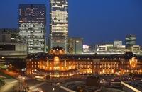 Tokyo Station night view Stock photo [3081721] Tokyo