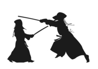 Kendo silhouette [3082190] Kendo