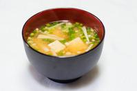 Miso soup of tofu and Enoki mushroom Stock photo [3084349] Miso
