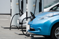 Electric vehicle charging Stock photo [3087128] Electric