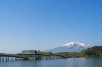 Aomori Prefecture, Tsurunomaihashi and Mt. Stock photo [3181344] Tohoku