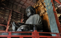 Nara Todaiji Temple of Buddha stock photo
