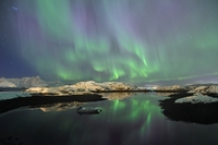 Aurora reflected in the water Stock photo [3183568] Nordic