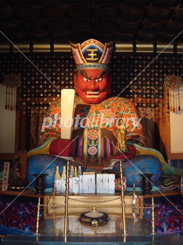 江東区の法乗院深川ゑんま堂にある閻魔大王坐像 写真素材 3463874