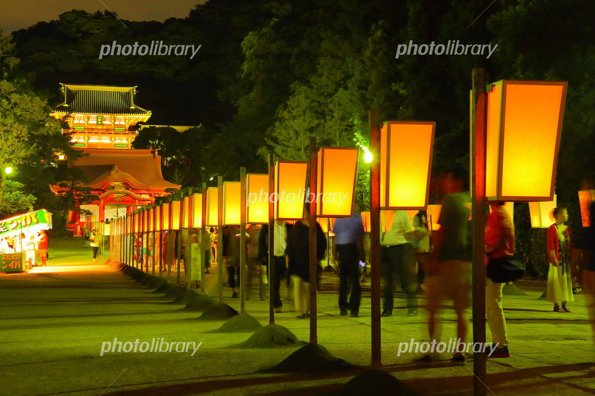 Paper lantern festival of Tsuruoka Hachiman Photo