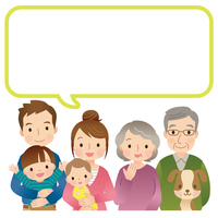 Three generation family copy space [3291336] Family