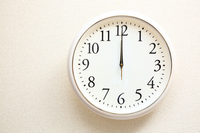 White Wall Clock Stock photo [3382890] White