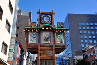 Trick watch Ningyo-cho Street Stock photo [3383464] Automaton