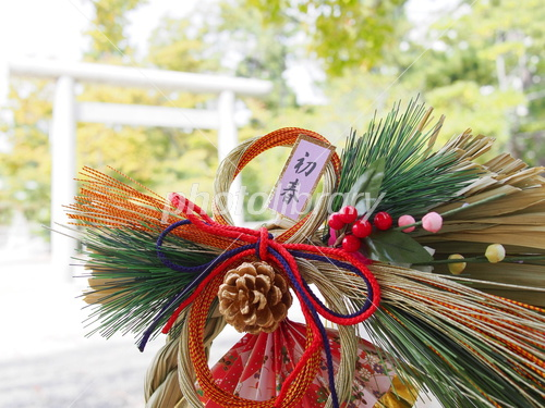 Rope decoration of New Year Photo