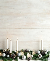 Christmas ornament and candles of Silver Stock photo [3469284] Christmas