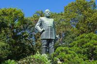 Saigo Takamori statue stock photo