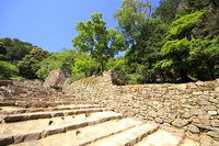 Shiga June Azuchi Castle major road and stone wall Stock photo [3475908] Azuchi