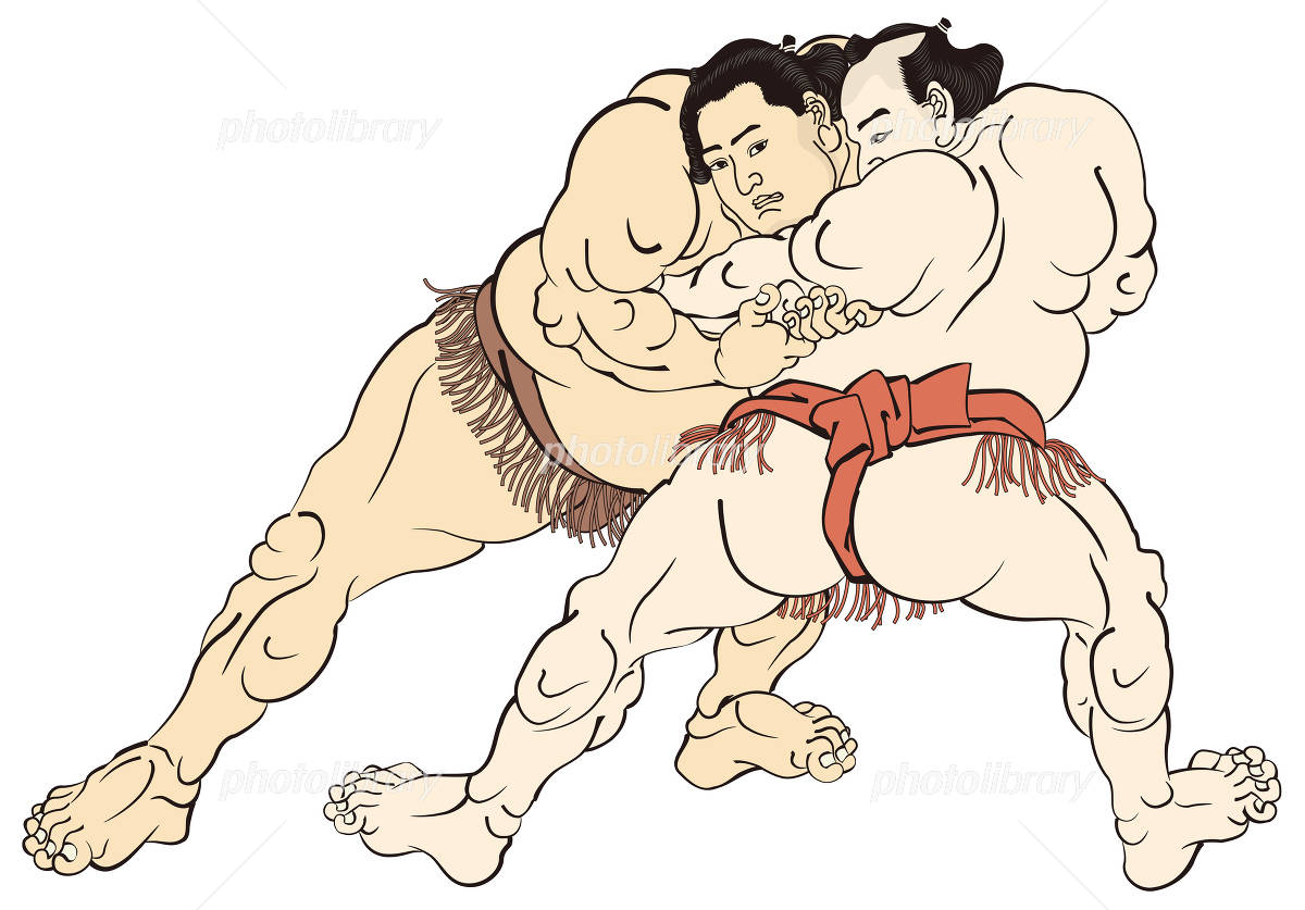 Kunisada sumo picture of image illustrations イラスト素材