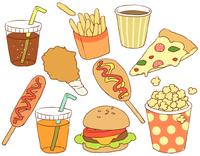 Fast food illustrations [3574226] Food