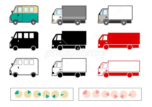 宅配便トラックのイラスト素材