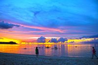 Dusk of Tumon Beach Stock photo [3678030] Guam