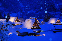 Toyama Prefecture Gokayama Suganuma village light up the winter Stock photo [3683631] Hokuriku