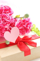 Carnation and gift of Mother's Day Stock photo [3686062] Gift