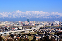 Tateyama mountain range and the Hokuriku Shinkansen Stock photo [3687660] Tateyama