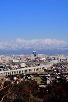 Tateyama mountain range and the Hokuriku Shinkansen Stock photo [3687897] Tateyama
