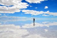 I walk the Uyuni lake Stock photo [3688910] Uyuni