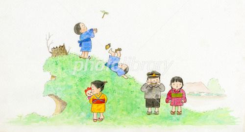 昔の子供 イラスト素材 3791236 フォトライブラリー Photolibrary