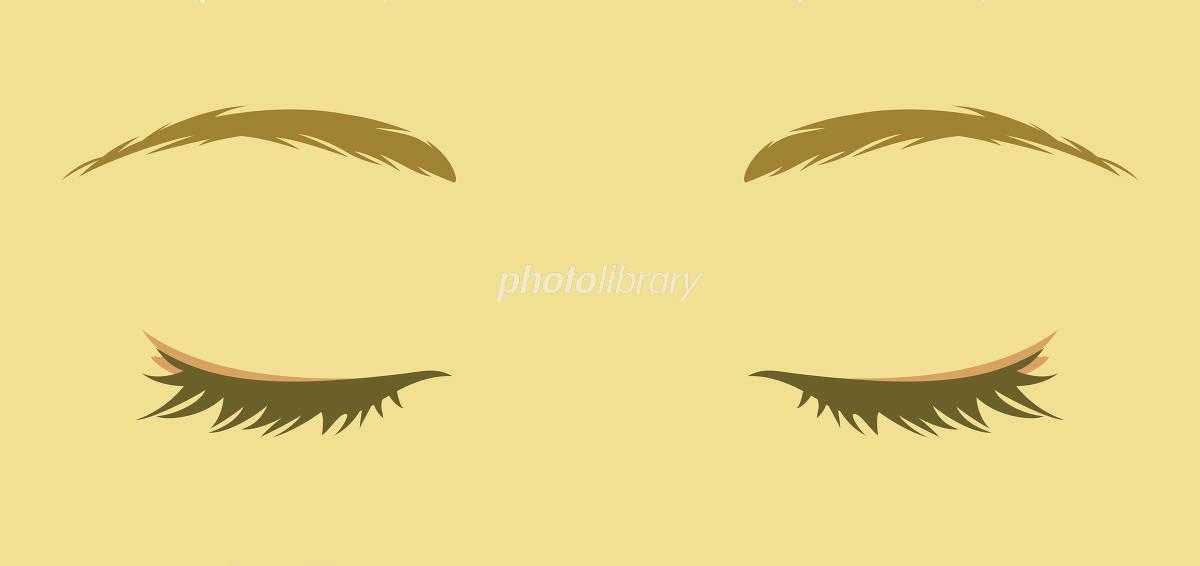 女性の目 閉じた目 イラスト素材 3793109 フォトライブラリー
