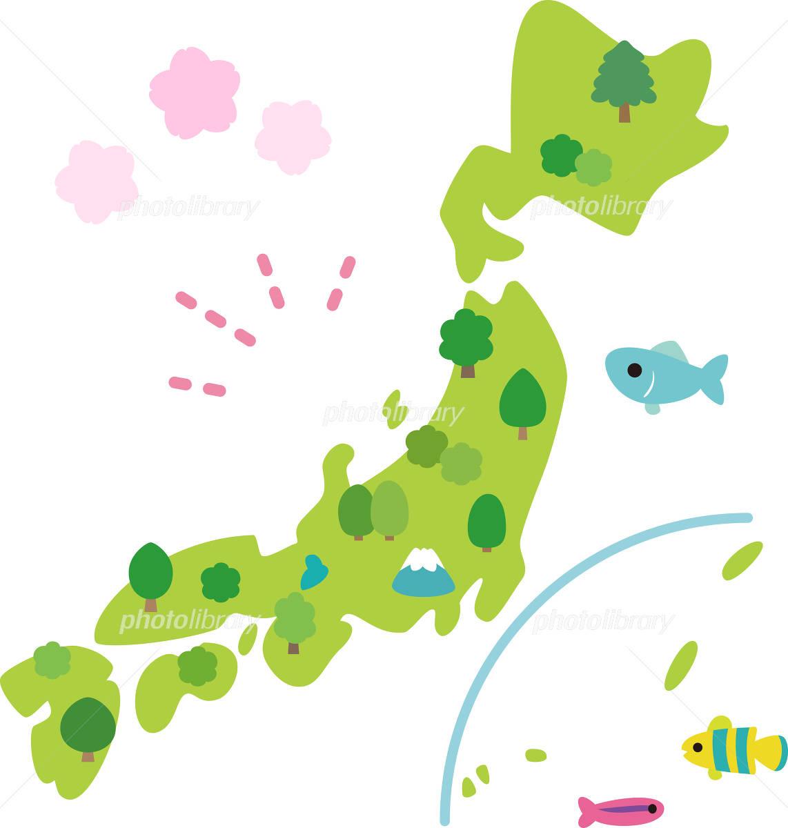 かわいい日本列島のイラスト イラスト素材 3801444 フォトライブ