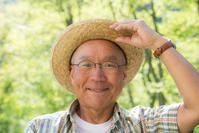 Senior smile in the fresh green Stock photo [3793676] Senior