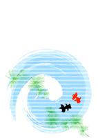 Summer greeting goldfish [3794975] Summer