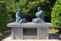 Interactive statue of Saigo Takamori (Minamishu) and KanMinoruShigeru (Gagyu) Stock photo [3799724] Northeast
