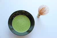 Green tea and bamboo whisk Stock photo [3801026] Matcha