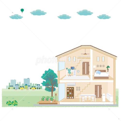家 断面図 イラスト イラスト素材 3905750 フォトライブラリー
